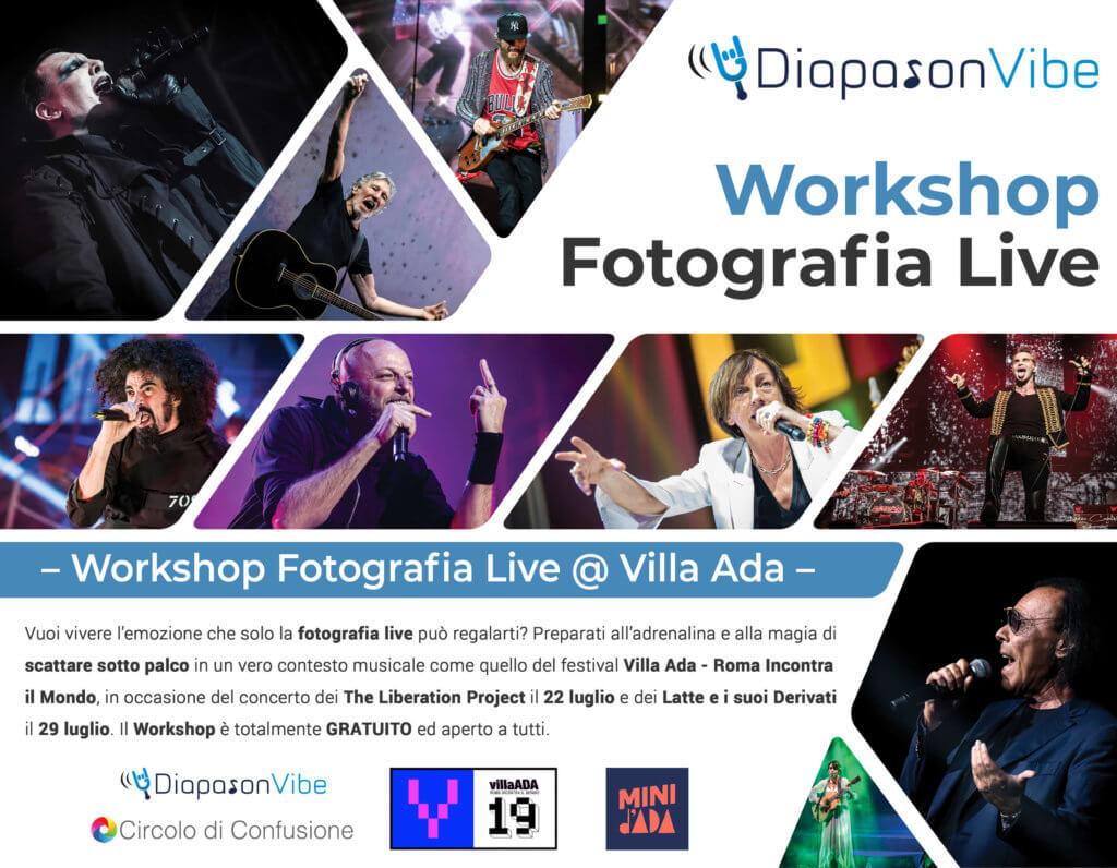 Workshop Fotografia Live @ Villa Ada - Roma Incontra il Mondo
